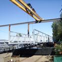 Neubau einer aufschwimmbaren Brücke