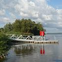 Neubau einer Slipanlage mit  Bootssteg und Badeinsel